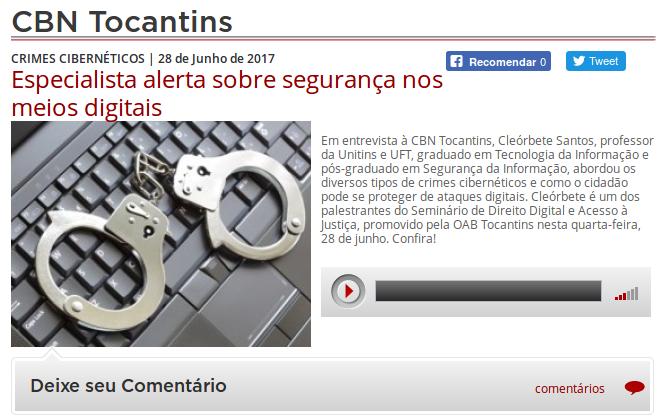 cleorbete-entrevista-crimes-digitais-radio-cbn