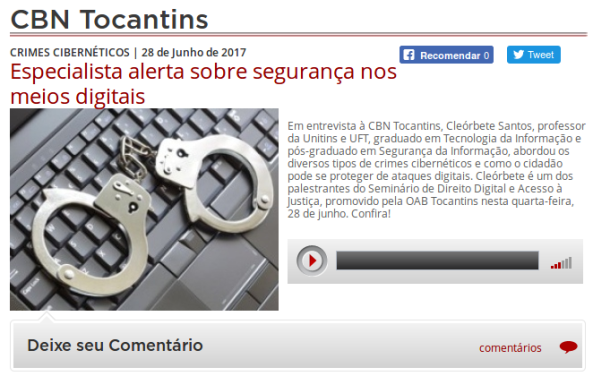cleorbete-entrevista-crimes-digitais-radio-cbn