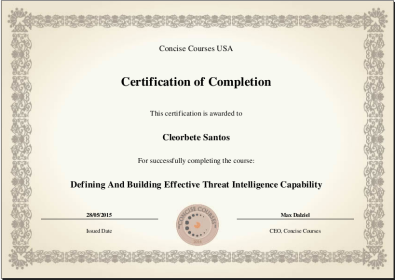 [2015] Defining And Building Effective Threat Intelligence Capability