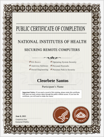 [2015] NIH - Securing Remote Computers