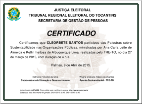 [2015] Sustentabilidade nas Organizações Públicas