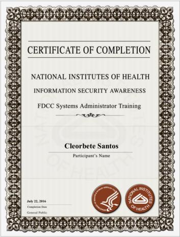 [2016] NIH Information Security Awareness Training