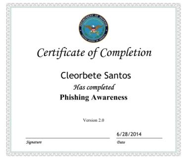 Phishing Awareness - DoD