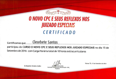 [2016] Novo CPC e seus reflexos juridicos