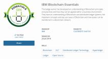 [2018] IBM Blockchain Essentials