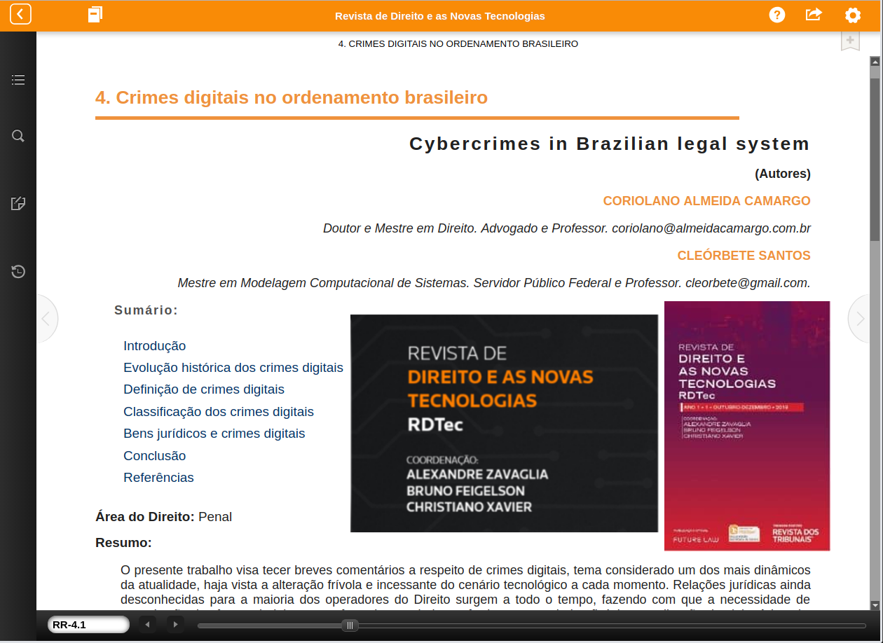 cleorbete-crimes-digitais-rdtec-revista-direito-novas-tecnologias-thomson-reuters