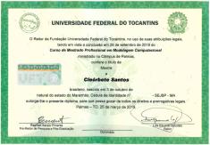 diploma-cleorbete-santos-mestrado-modelagem-computacional-uft-federal-tocantins