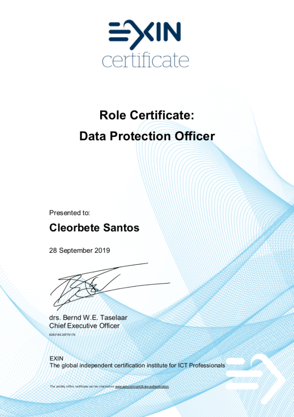 cleorbete-exin-dpo-data-protection-officer-certificate