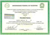 diploma-direito-cleorbete-uft-federal-universidade-tocantins