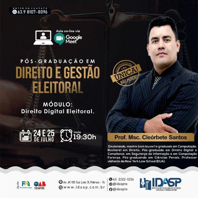 cleorbete-idasp-pos-direito-digital-eleitoral