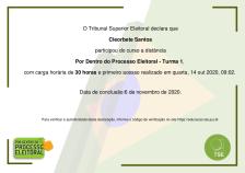 certificado-cleorbete-processo-eleitoral-tse